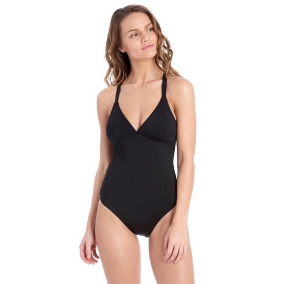 Lole Other - Lolë 'Madeirella' black one piece swimsuit